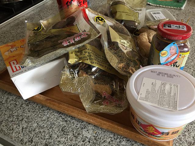 ingredienten voor het maken van Char Siu saus